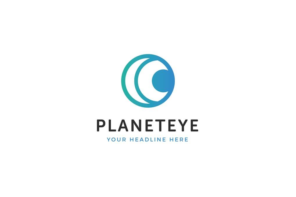 Planet-Eye-Logo-Template - 35+ Awesome Eye Logo Design Templates [year]