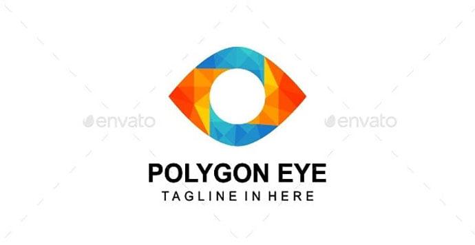 Polygon-Eye - 35+ Awesome Eye Logo Design Templates [year]