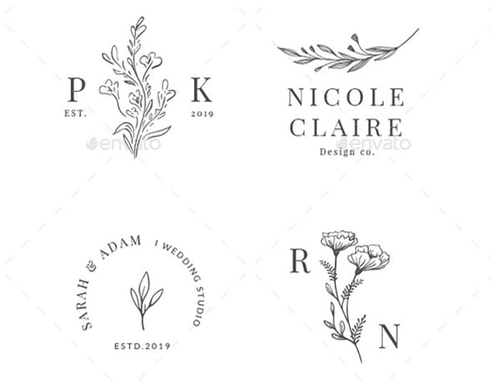 Premade-Logo - 35+ Excellent Monogram Logo Design Templates