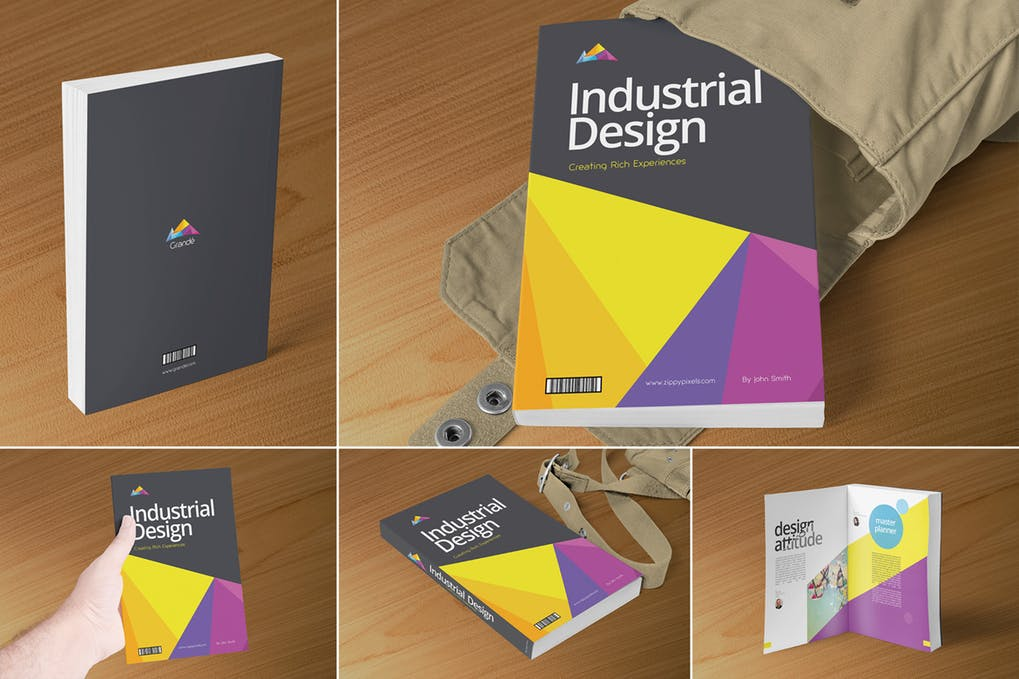 Professional-Book-Cover-Mockups - 35+ PSD Book Cover Mockup Templates [year]