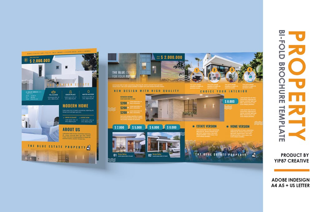 Property-Bifold-Brochure - 60+ Bi-fold & Tri-fold Brochure Design Templates [year]