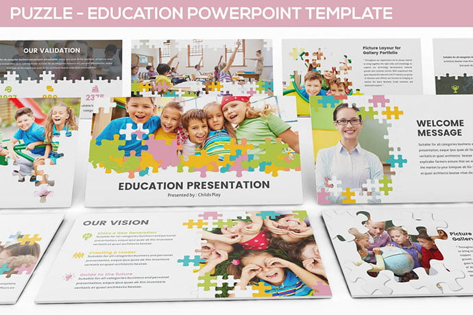 Puzzle - 30+ PowerPoint Templates for School or College [year]