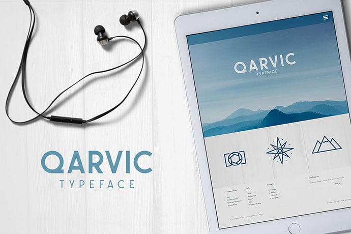 QARVIC-Typeface - 35+ Effective Fonts for Brochure Design [year]