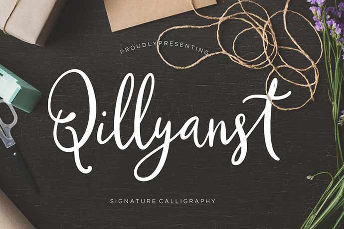 Qillyanst-Signature-Calligraphy - 52+ Wonderful Fonts for Calligraphy Logo Design [year]