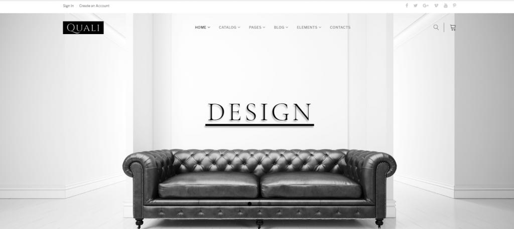 Quali - 60+ HTML Interior & Furniture Website Templates [year]