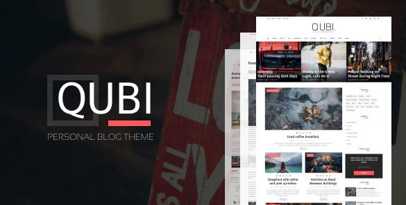 Qubi - 35+ Awesome One Page Creative Blogger Template [year]