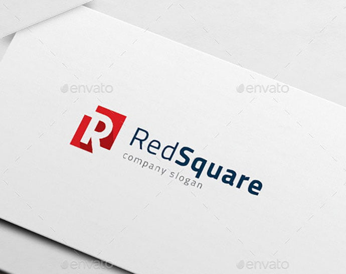 R-Logo-Red-Square - 32+ Amazing Personal Logo Design Templates [year]