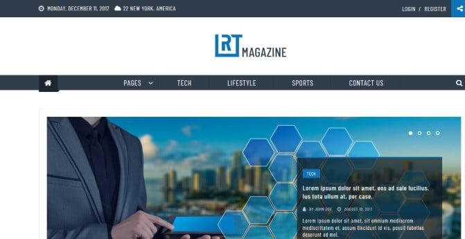 RT-Magazine - 45+ Responsive News Website Templates [year]