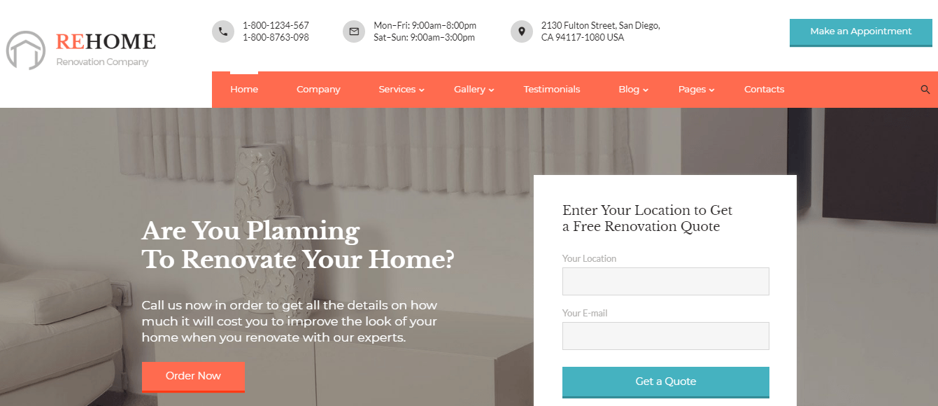 ReHome - 60+ HTML Interior & Furniture Website Templates [year]