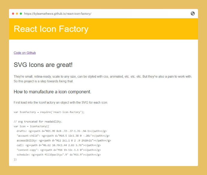 React-Icon-Factory - 25+ Best Free Necessary React Icon Components [year]