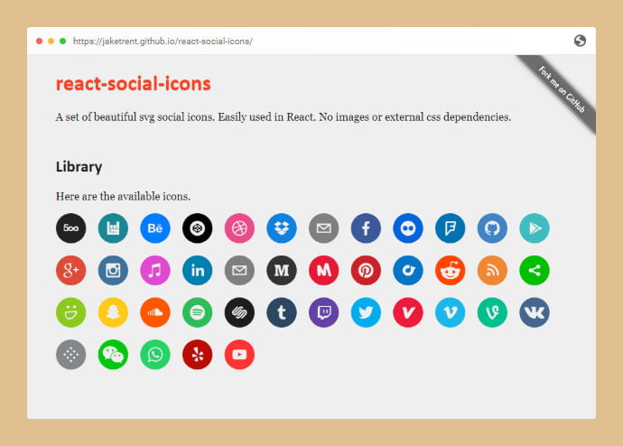 React-Social-Icons - 25+ Best Free Necessary React Icon Components [year]