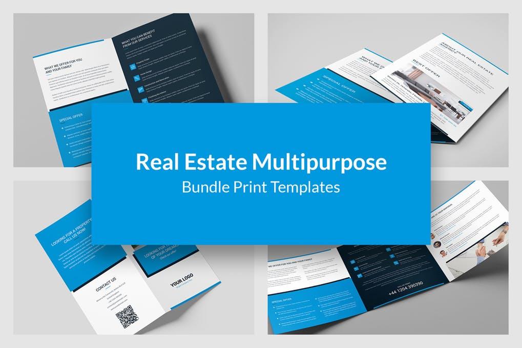 Real-Estate-–-Bundle-Print-Templates-6-in-1 - 60+ Bi-fold & Tri-fold Brochure Design Templates [year]