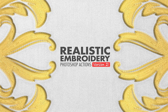 Realistic-Embroidery - 30+ Embroidery Effect Photoshop Actions & Brushes