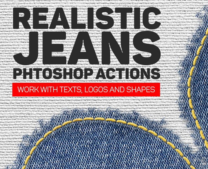 Realistic-Jeans-Photoshop-Action - 30+ Embroidery Effect Photoshop Actions & Brushes