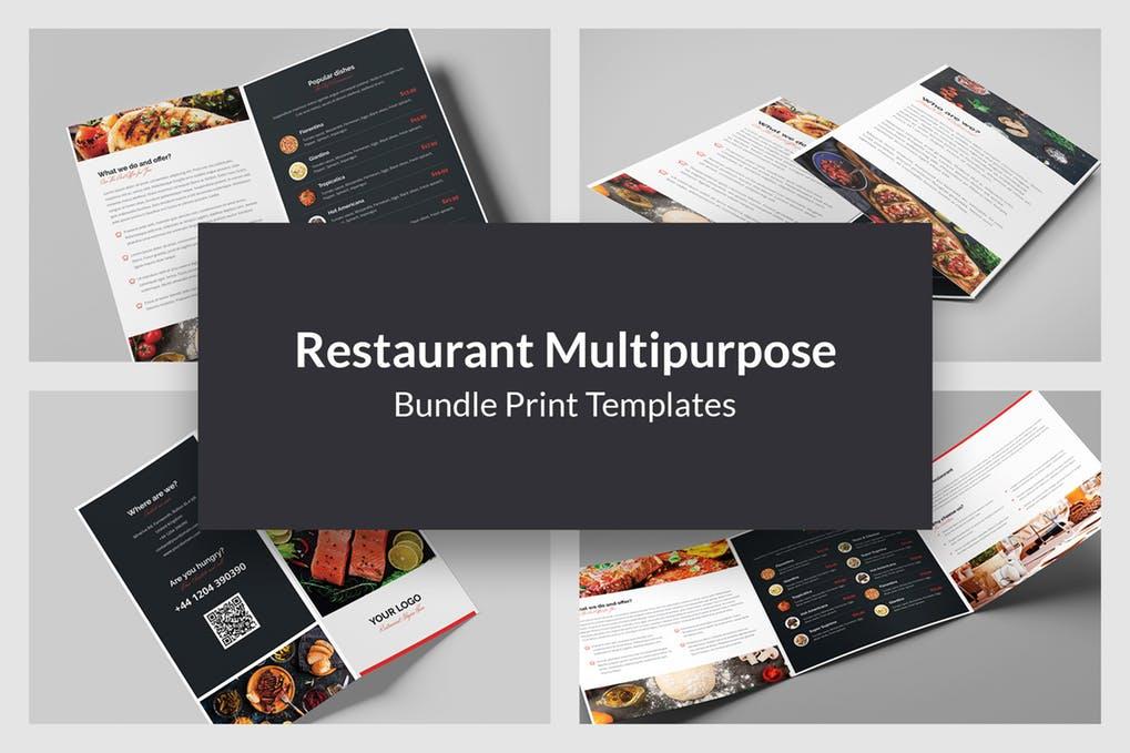 Restaurant - 60+ Bi-fold & Tri-fold Brochure Design Templates [year]
