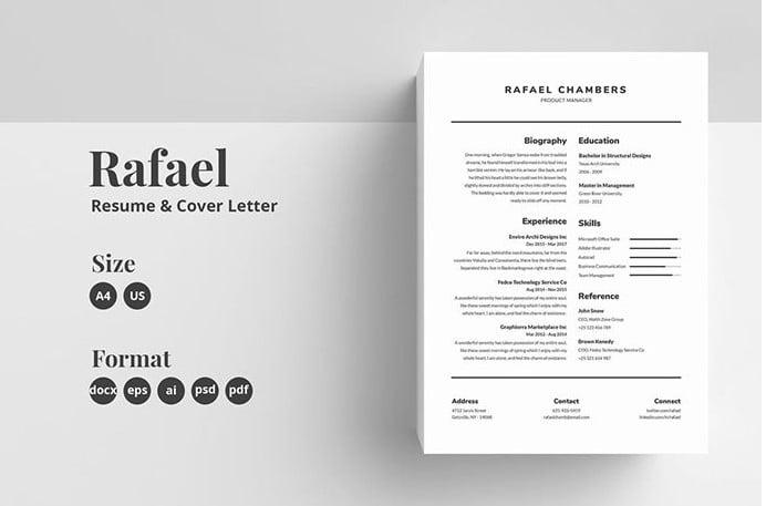 Resume-CV-for-Common-Jobs - 35+ Stunning Black & White Resume Templates [year]