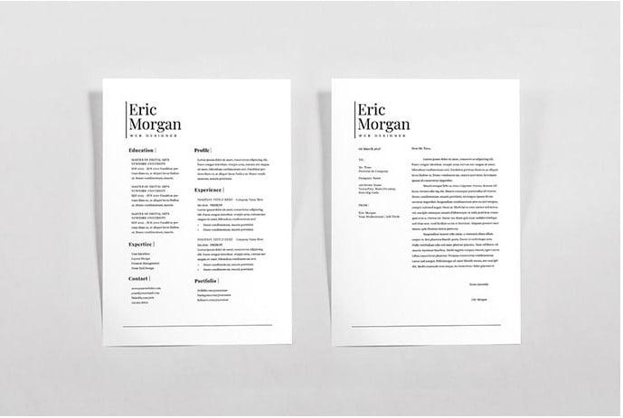 Resume-Letterhead - 35+ Stunning Black & White Resume Templates [year]