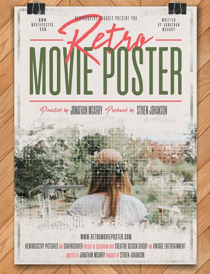 Retro-Movie-Poster - 35+ Nice PSD Movie Poster Design Templates [year]