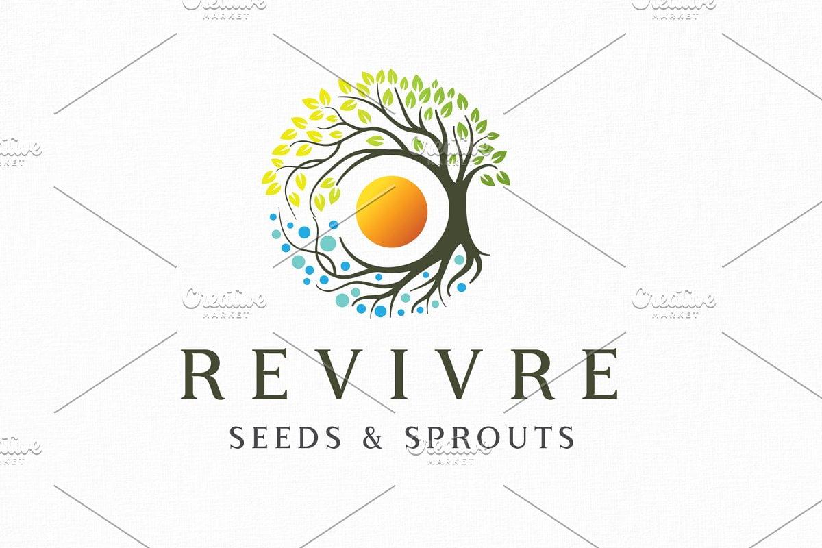 Revivre - 60+ Strong Tree Logo Design Templates [year]