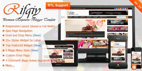 Rifqiy - 35+ Best Stunning Blogger One Page Template [year]