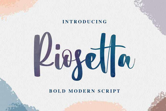 Riosetta-1 - 52+ Wonderful Fonts for Calligraphy Logo Design [year]