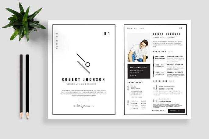 Robert-Johnson - 35+ Stunning Black & White Resume Templates [year]