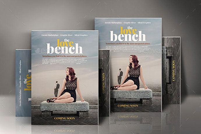 Romance-Movie-Poster-Template - 35+ Nice PSD Movie Poster Design Templates [year]