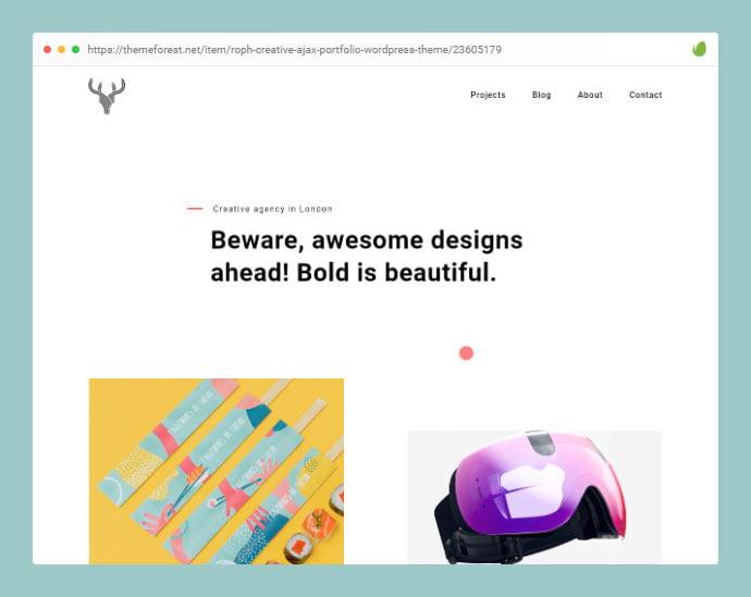Roph - 35+ Minimal WordPress Theme Designs For Creatives [year]
