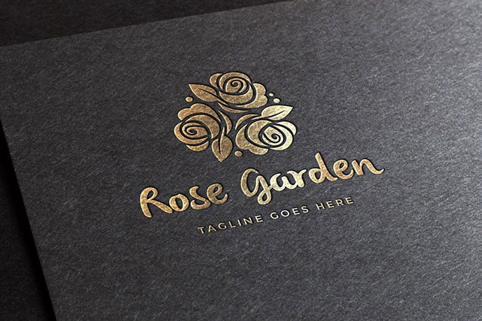Rose-Garden-Logo-Template - 50+ Stunning Beauty Salon Logo Design Templates [year]