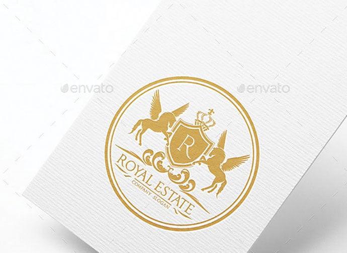 Royal-Real-Estate - 35+ Amazing Heraldry Logo Design Templates [year]