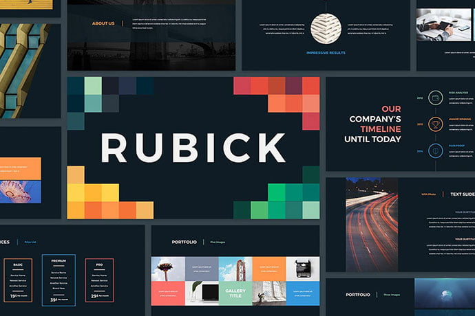 Rubick-Presentation-Template - 30+ Wonderful Timeline PowerPoint Templates [year]