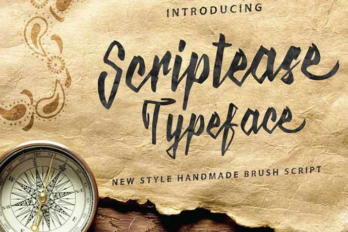 Scriptease-Typeface - 52+ Wonderful Fonts for Calligraphy Logo Design [year]