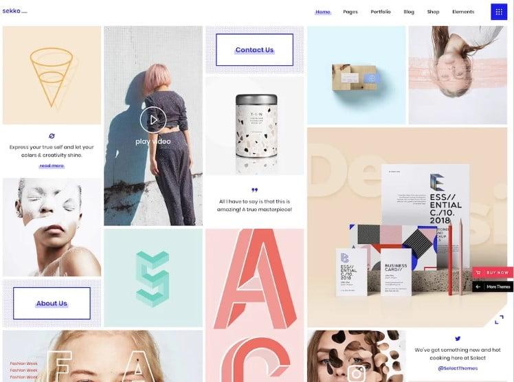 Sekko - 38+ Shiny WordPress Themes for Designers [year]
