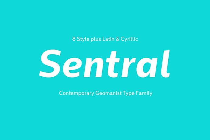 Sentral - 35+ Effective Fonts for Brochure Design [year]
