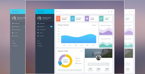 Smart - 35+ Free PSD Admin Template Designs [year]