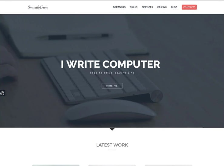 Smartly-Own - 38+ Shiny WordPress Themes for Designers [year]