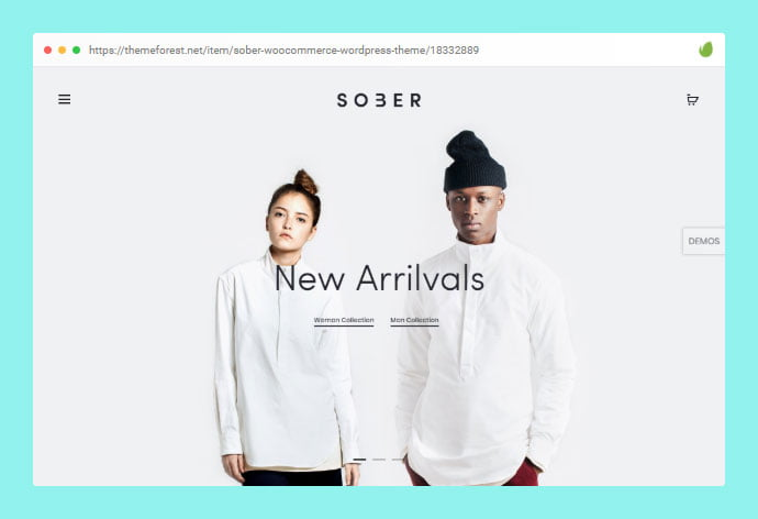 Sober - 30+ WordPress Themes with Stunning Page Transition [year]