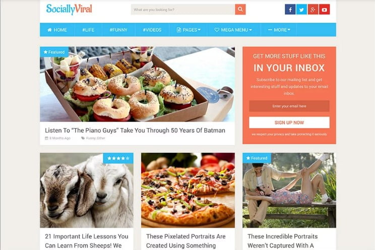 SociallyViral - 46+ Best WordPress Newspaper Themes for News Sites [year]