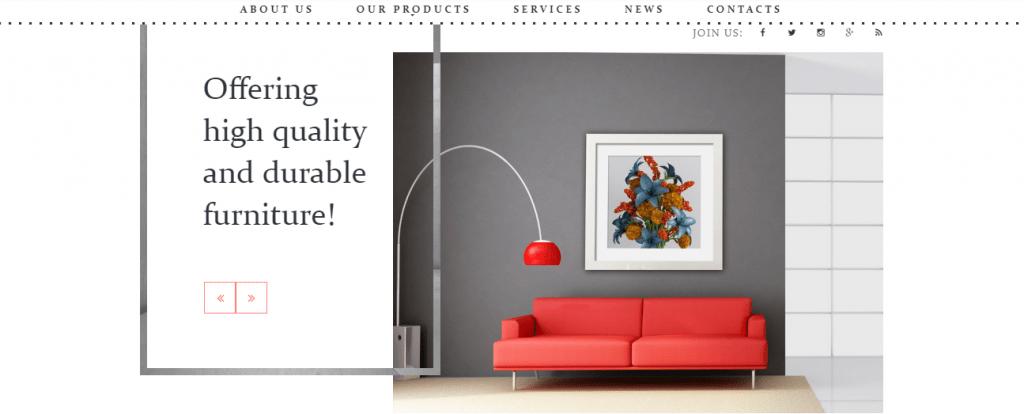 Sofa - 60+ HTML Interior & Furniture Website Templates [year]