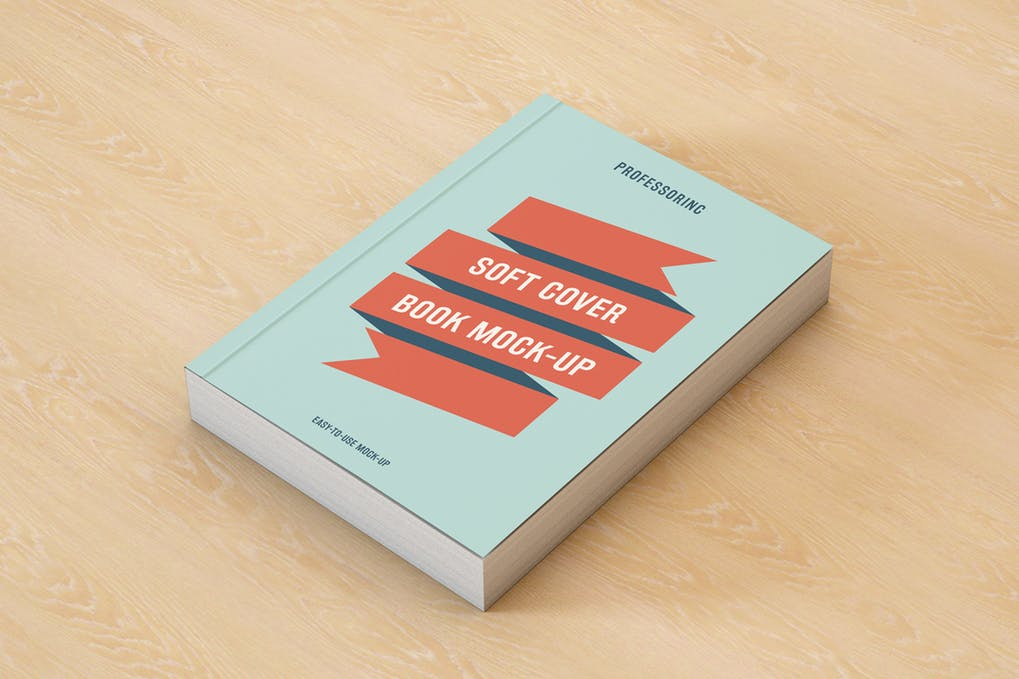 Soft-Cover-Book-Mock-Up - 35+ PSD Book Cover Mockup Templates [year]