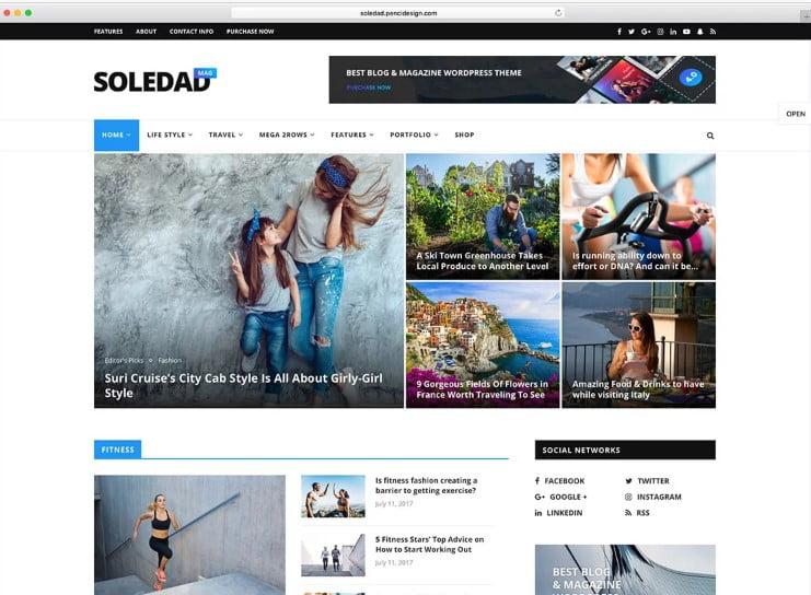 Soledad - Top 60+ News Magazine WordPress Themes [year]