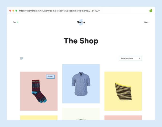 Soma - 35+ Minimal WordPress Theme Designs For Creatives [year]