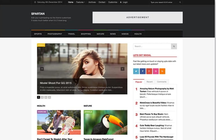Spartan - 46+ Best WordPress Newspaper Themes for News Sites [year]