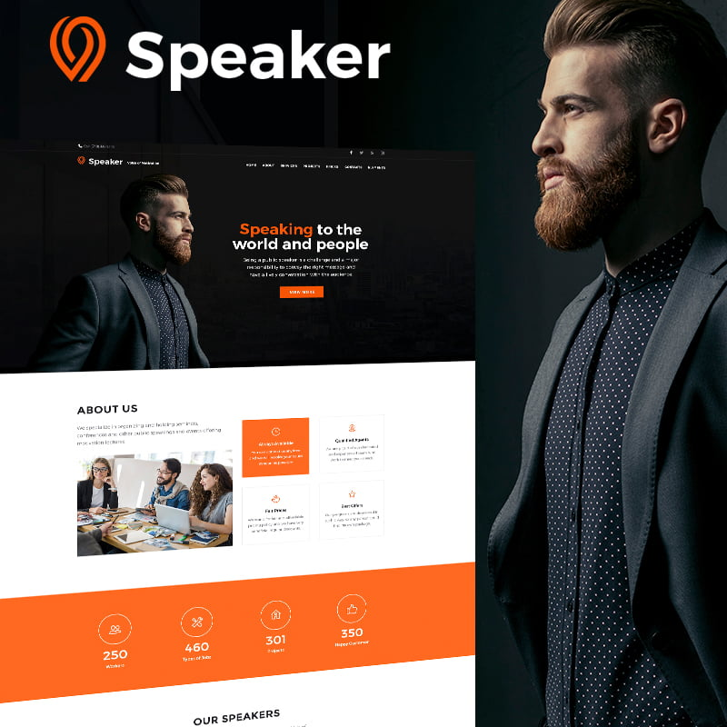 Speaker-Life-Coach-WordPress-Theme - 10+ Best WordPress Blog Themes For Your Website [year]