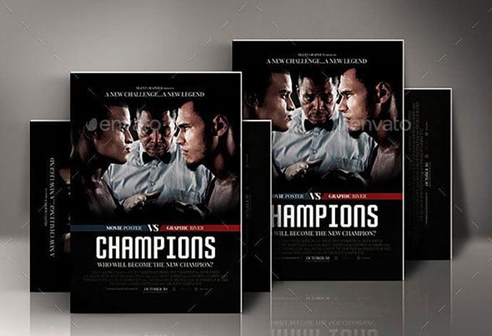 Sport-Movie-Poster - 35+ Nice PSD Movie Poster Design Templates [year]