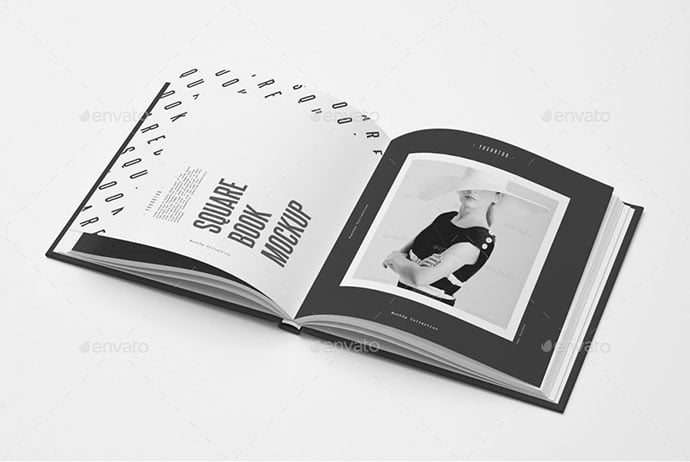 Square-Book-Mock-up - 35+ PSD Book Cover Mockup Templates