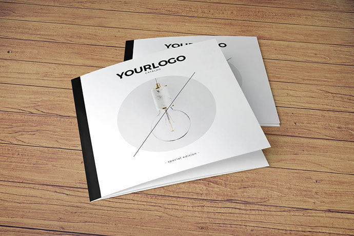 Square-Simple-Minimal-Catalog-Trifold - 35+ Best Interior & Furniture Catalog Templates [year]