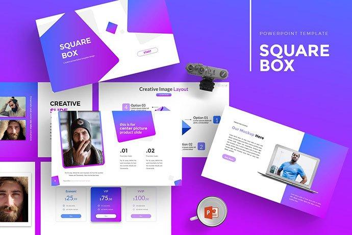 SquareBox - 35+ Blast of Bright PowerPoint Templates [year]