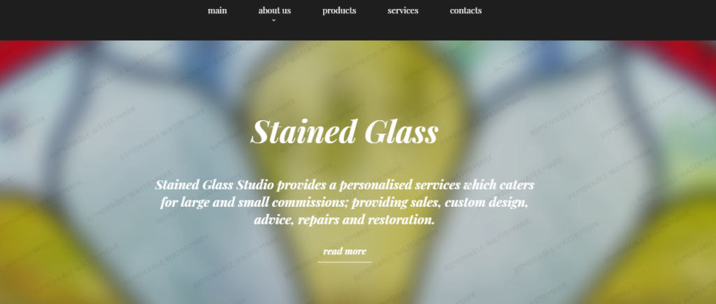Stained-Glass - 60+ HTML Interior & Furniture Website Templates [year]