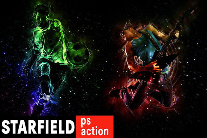 Starfield-Photoshop-Action - 35+ Attractive Glow Effect Photoshop Actions